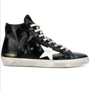 ISO Golden Goose Francy Sniney back high tops 37